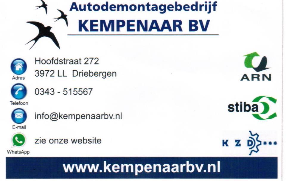 Autodemontagebedrijf Kempenaar BV